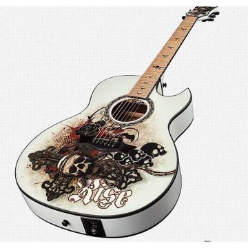 Custom Dean Exhibition FM Acoustic-Electric white