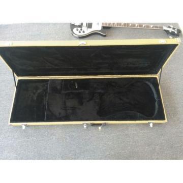 Custom Jetglo 4003 Neck Thru Body Construction Black Bass