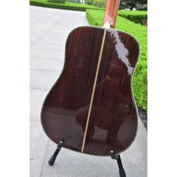 Custom Shop Solid Spruce Top Ply Rosewood Back and Sides D45 Martin Amber Acoustic Guitar