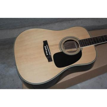 Custom Shop Martin Solid Spruce Top D28 Natural Acoustic Guitar Sitka Solid Spruce Top With Ox Bone Nut & Saddler