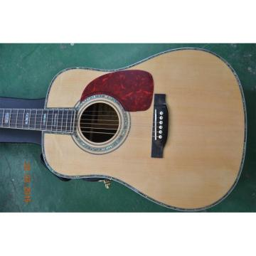 Custom Shop Dreadnought Martin D45 Natural Acoustic Guitar Fishman Pickups Sitka Solid Spruce Top With Ox Bone Nut & Saddler
