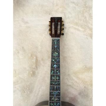 Custom Amber Martin 45 Classical Acoustic Guitar Sitka Solid Spruce Top With Ox Bone Nut & Saddler