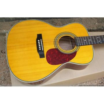 41 Inch CMF Martin D28 Yellow Acoustic Guitar Sitka Solid Spruce Top