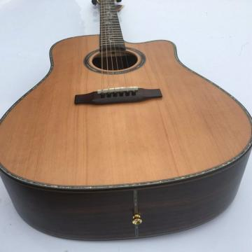 41 Inch CMF Martin Acoustic Guitar Solid Wood Flower Inlay
