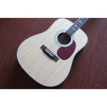 Custom D45 Martin Natural Acoustic Guitar North American Solid Spruce Top With Ox Bone Nut & Saddler