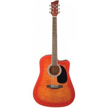 Jay Turser JJ-45FCET Series Acoustic/Electric Guitar Cherry Sunburst