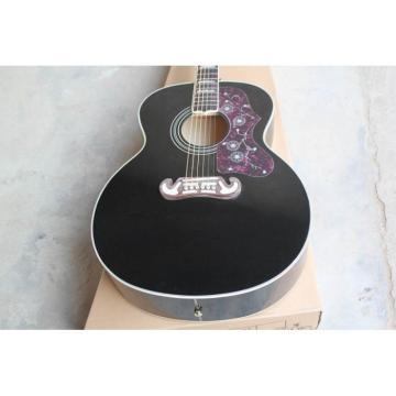 Custom martin guitars acoustic Shop guitar strings martin SJ200 martin guitar strings acoustic Elvis martin guitar accessories Presley martin Black Acoustic Guitar