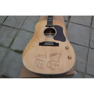 Custom Shop Natural John Lennon J160E Acoustic Guitar