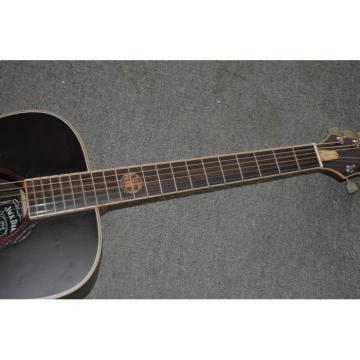 Custom Shop Jack Daniels Dark Acoustic Guitar with Fishman EQ Keystone Machine Heads