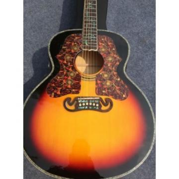 Custom martin guitar J200 martin guitar strings 6 martin acoustic guitar strings Strings martin acoustic guitar Sunset martin guitar accessories Burst Acoustic Guitar Real Abalone