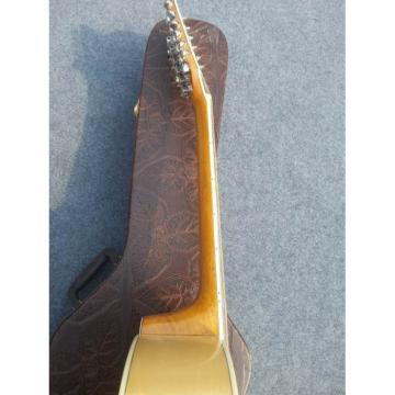 Custom J200 12 Strings Natural Acoustic Guitar