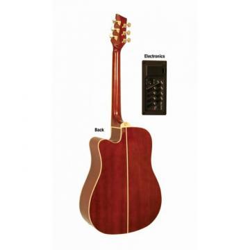 2013 Kona Tobacco Sunburst Acoustic Electric Dreadnought Guitar