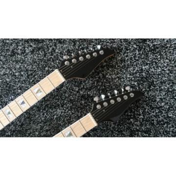 Custom Ibanez JEM 7V Natural Double Neck Acoustic Electric 6 6 Strings Guitar