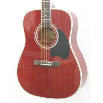 2013 Kona K216TRE Transparent Red Acoustic Electric Dreadnought Guitar