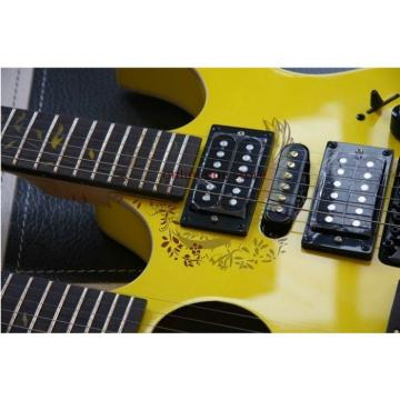 Custom martin acoustic guitar Ibanez martin guitar accessories JEM martin guitars 7V martin strings acoustic Yellow martin acoustic guitars Double Neck Acoustic Electric 6 6 Strings Guitar