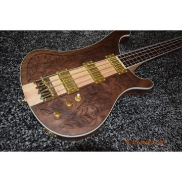 Walnut Body Lemmy Kilmister  Rickenbacker 4003 Matte Carved Natural Bass Back Strap