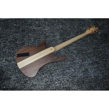 Lemmy Kilmister  Rickenbacker 4003 Matte Carved Natural Bass Back Strap with 5 String Bass Option Ash Wood