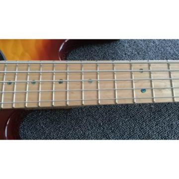 Custom Sunburst Music Man Sting Ray 5 Bass 9 V Battery Passive Pickups