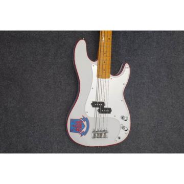 Custom Shop West Ham United White Precision Bass