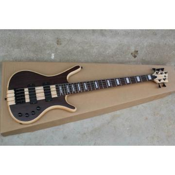 Custom Shop Warwick Corvette 5 Strings Brown Electric Bass