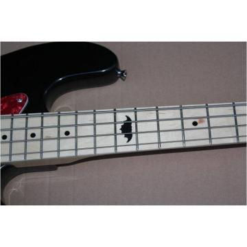 Custom Shop Squire Black Wilkinson Parts 4 String Bass