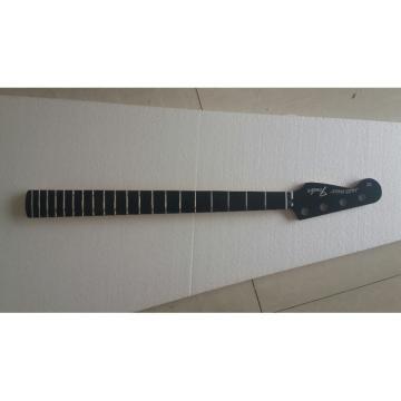 Custom Shop Silver Fender Logo Jaguar Bass Neck Black Ebony Fretboard