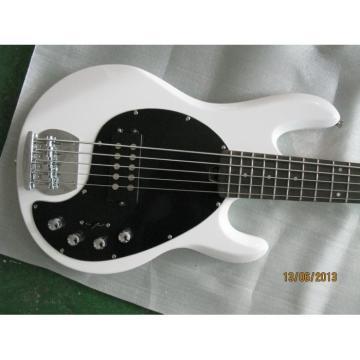Custom Shop Passive Pickups White MusicMan 5 Strings Music Man S.U.B. Ray5 Bass