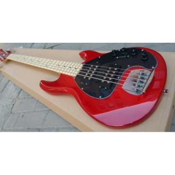 Custom Shop Red Music Man 5 String Bass Music Man S.U.B. Ray5 Passive Pickups