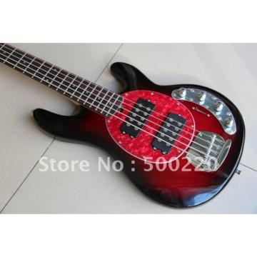 Custom Shop MusicMan Red 5 Strings Bass