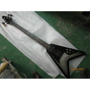 Custom Shop guitarra Silver Burst Flying V Electric Bass