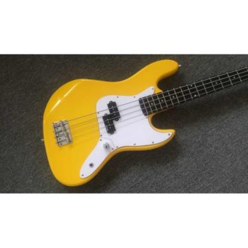 Custom Shop Graffiti Yellow Color Fender Precision Jaguar Electric Bass