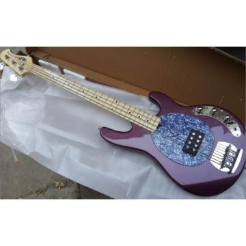 Custom Shop Ernie Ball Sting Ray 4 Strings Purple Bass
