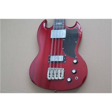 Custom Shop EB-3 SG Standard Burgundy 8 String Bass