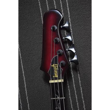 Custom Shop Firebird Pink Maple Top Left Handed 4 String Bass