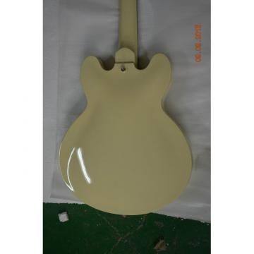 Custom Shop Cream Arctic White Midtown 4 String Fhole Semi Hollow Bass
