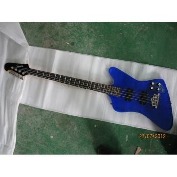 Custom Shop Blue Acrylic 4 String Bass