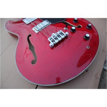 Custom Shop Cherry Red Midtown Standard 4 String Semi Hollow Bass