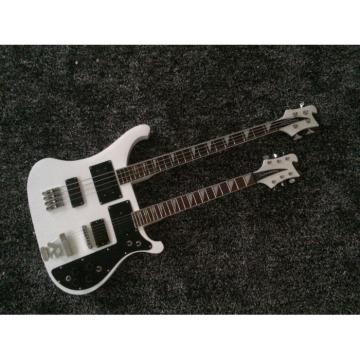 Custom Shop 4080 Double Neck Geddy Lee White 4 String Bass 6/12 String Guitar