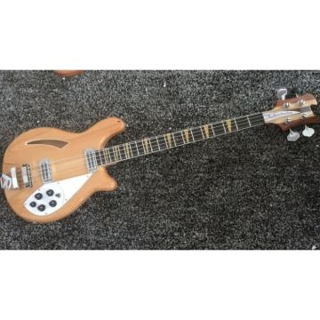 Custom Shop 4005 Rickenbacker Natural Semi Hollow Bass Checkerboard Bindings