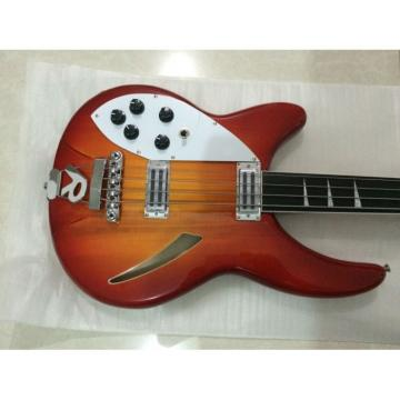 Custom Shop 4005 Rickenbacker Left Handed Fireglo 22 Frets Semi Hollow Bass