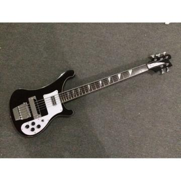 Custom Shop 4003 Jetglo Black Electric Rickenbacker 5 String Bass
