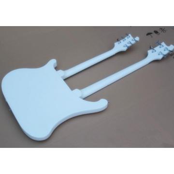 Custom Shop 4003 Double Neck White 4 String Bass 6 String Guitar