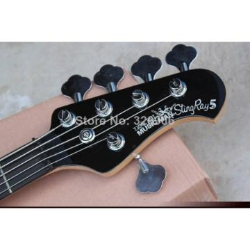 Custom Shop 2 Pickups MusicMan Black 5 Strings Bass