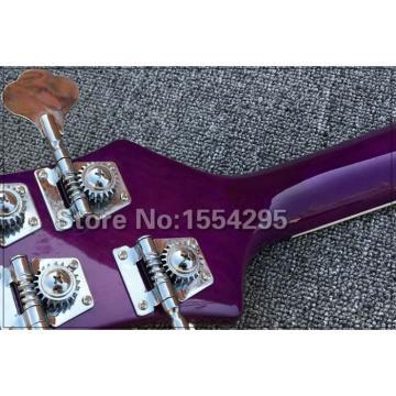 Custom Purple Flame Maple Top 4003 Neck Thru Body Construction Bass