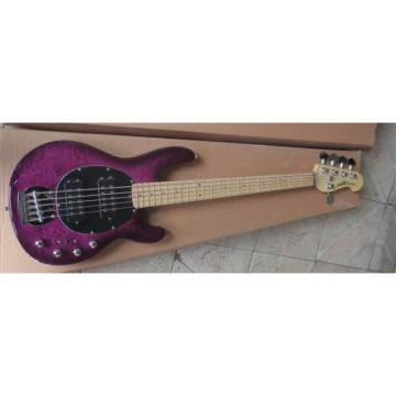 Custom Purple Burst Music Man Sting Ray 5 Bass Quilted Maple