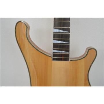 Custom Paul Mccartney Unfinished Project  Neck Thru Body 4003 Bass Checkerboard Bindings