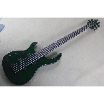 Custom Modulus Quantum Quilted Maple Top 5 String Bass Green Left Handed