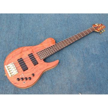 Custom NT Fordera Palisander Body Active Pickups 5 String Solid Flame Maple Top Bass