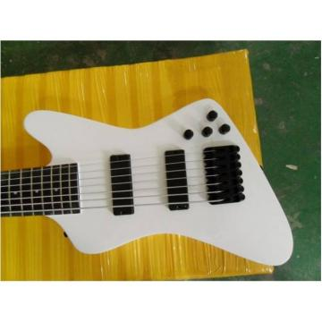 Custom Made White 7 String Electric Bass