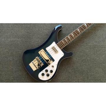 Custom Made Blue 4003 Bass Neck Through Body